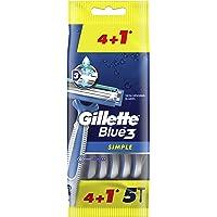 Gillette Blue Simple3 Disposable Razors x4+1