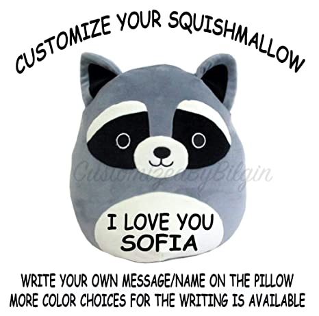9a00f1925973 Image Unavailable. Image not available for. Color: Squishmallow Customized  Original Kellytoy Rocky The ...