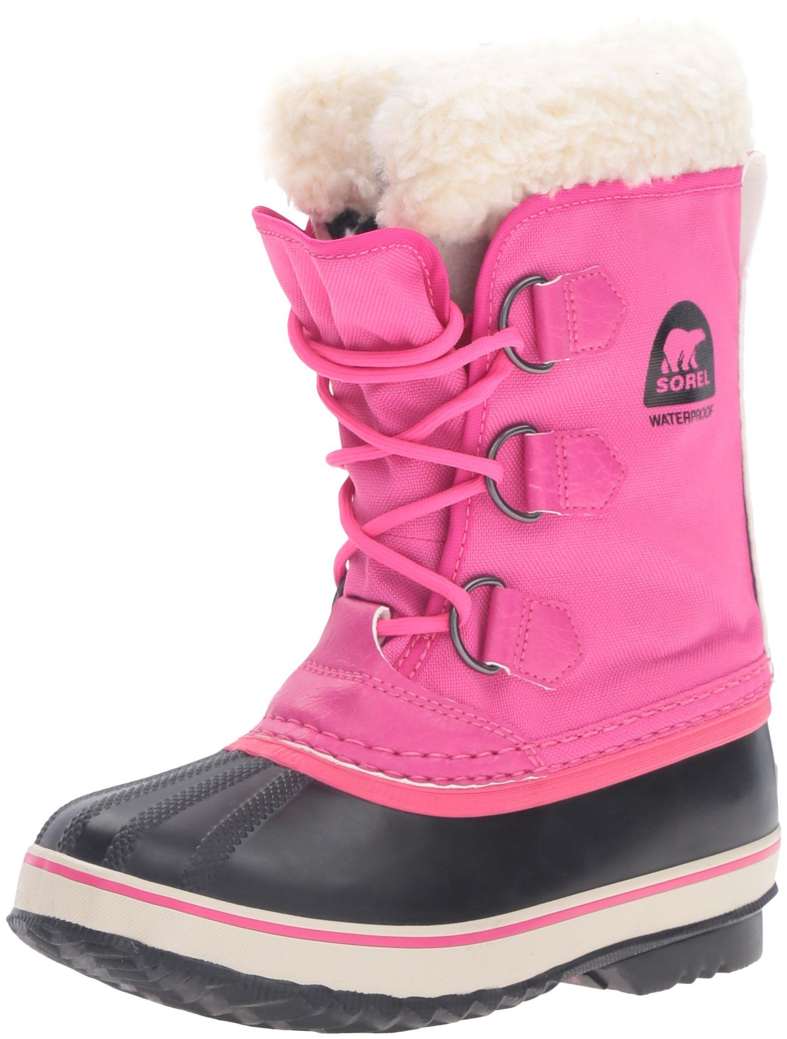 SOREL Yoot Pac Nylon-K Snow Boot, Red, 3 M US Little Kid