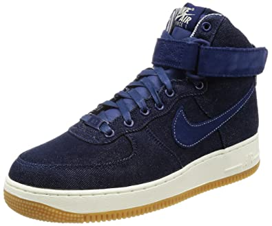 purchase cheap a9668 acdd6 Nike Air Force 1 Hi SE Binary Blue Muslin-Sail (Womens) (