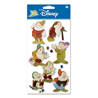 Disney 7 Dwarves Dimensional Sticker: Arts, Crafts & Sewing