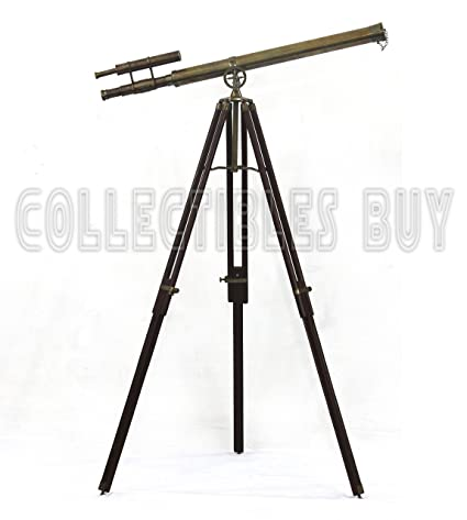 Antiques Maritime 1915 Marine Maritime Victorian Brass Vintage Solid Style Telescope Antique Gift