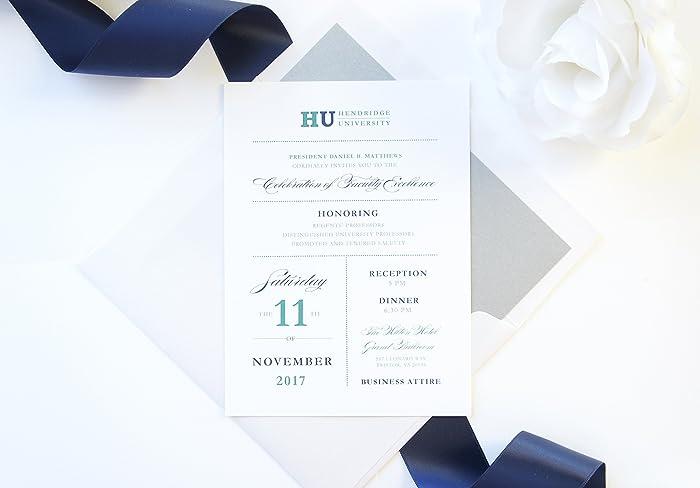 Amazon Com Modern Corporate Invitations University Invitation