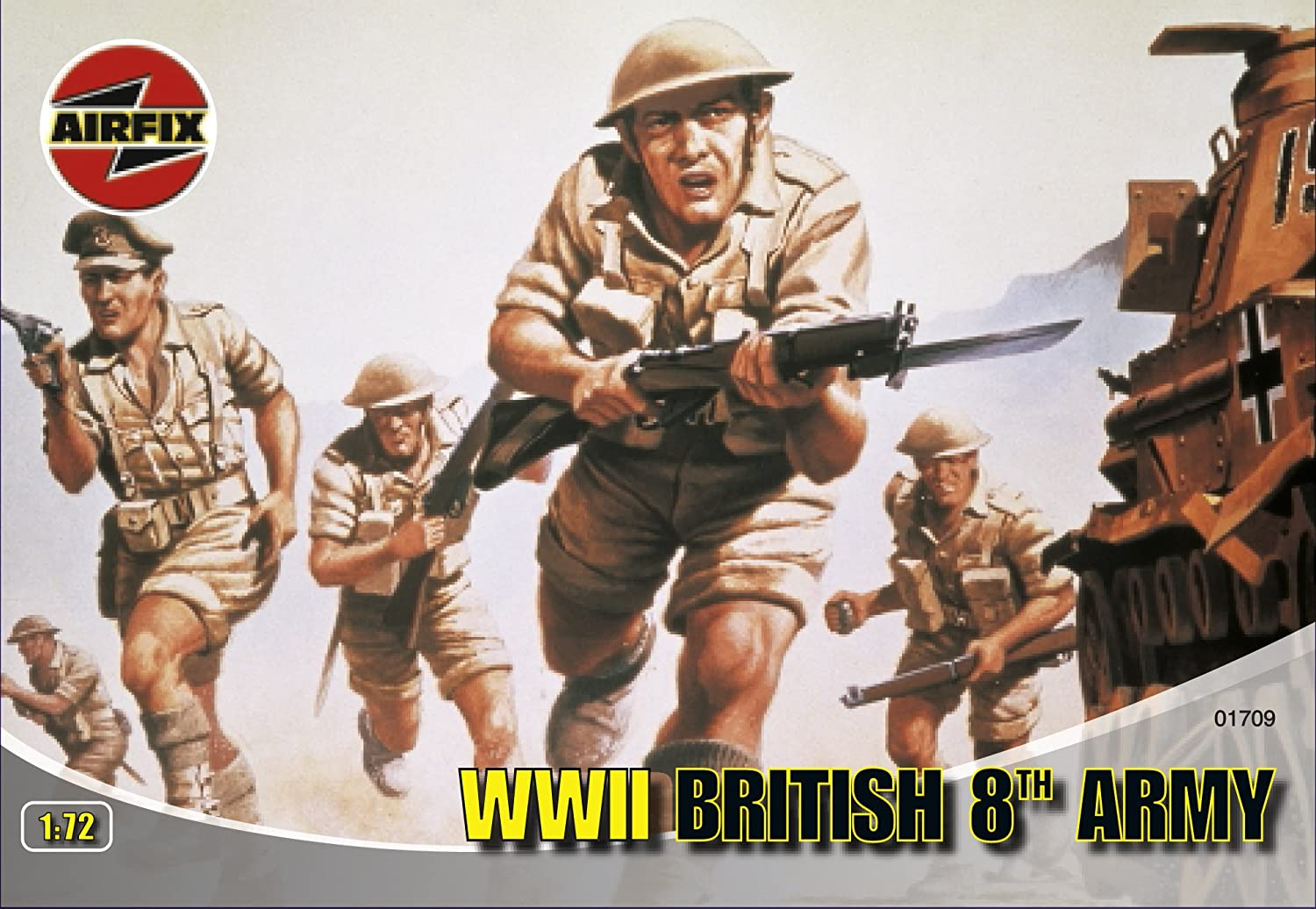 Airfix A01709 WWII British 8th Army 1:72 Scale Series 1 Plastic Figures Airfix World War II Figures B0002HZVP0 Arts and Crafts Arts_and_Crafts