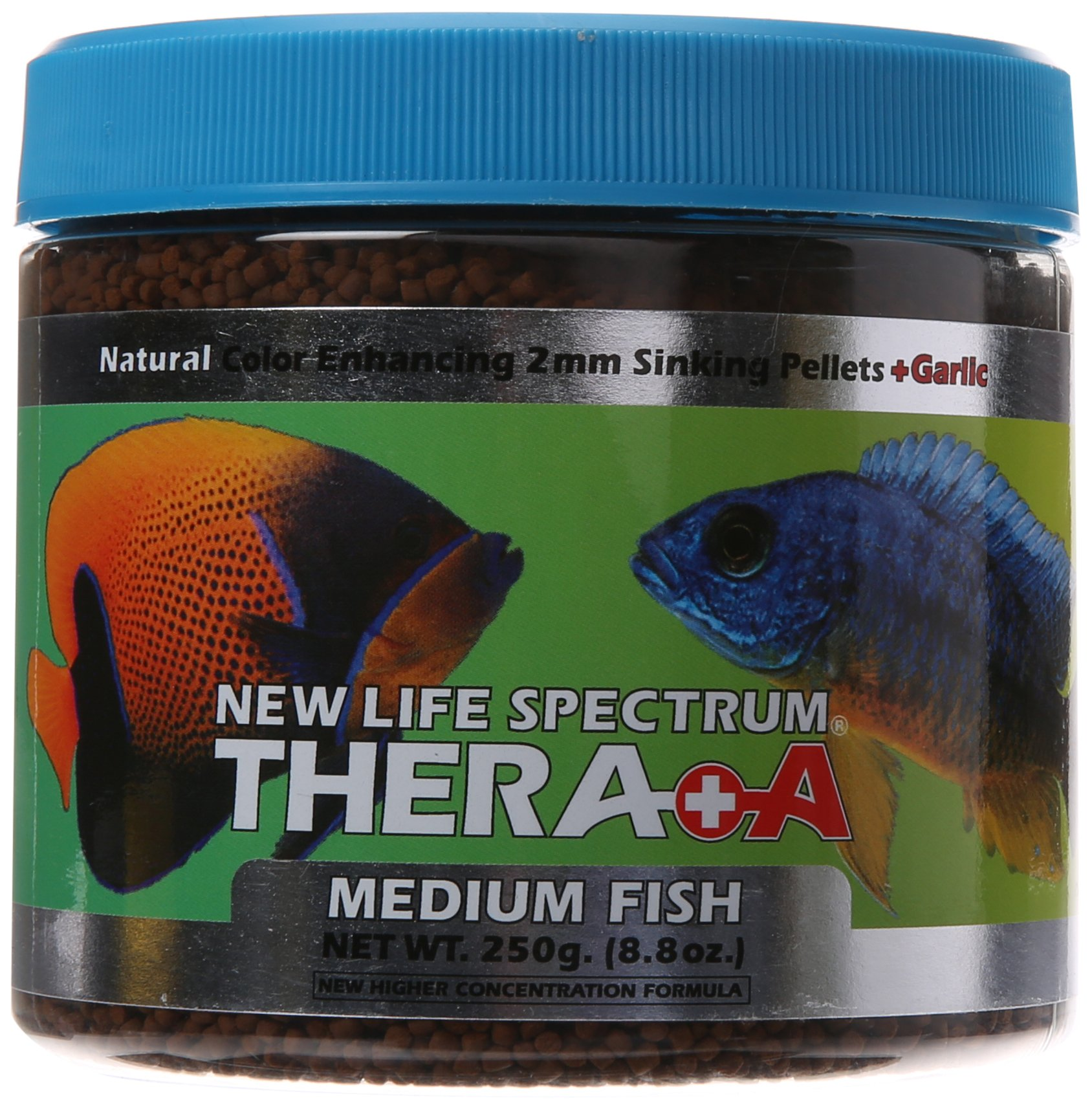 New Life Spectrum Thera-A Medium 2mm Sinking Salt/Freshwater Pet Food, 250gm