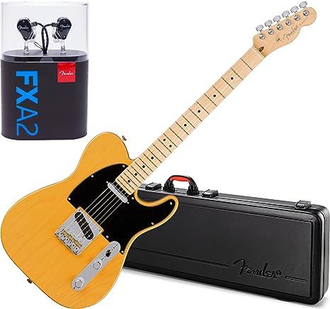 Fender American profesional guitarra eléctrica telecaster MN guitarra Rubio W/caso y fxa2 Pro In