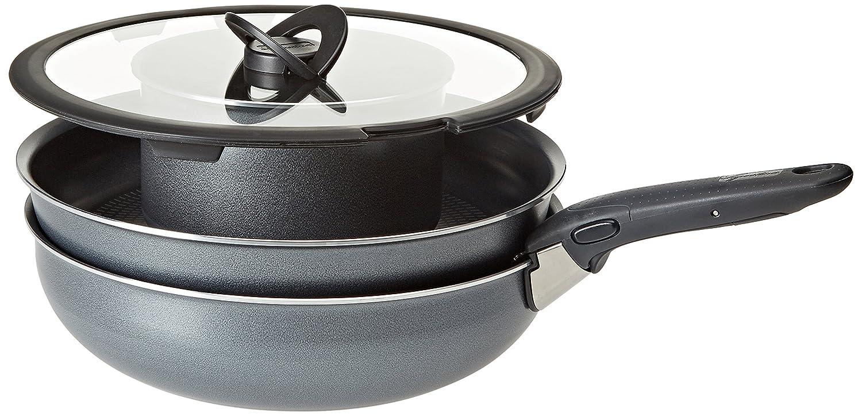 Lagostina Ingenio - Batería Essential de Cocina, Aluminio, Negro, 6 Unidades: Amazon.es: Hogar