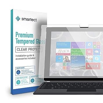 smartect 1x Protector de Pantalla de Cristal Templado para Microsoft Surface 3 Lámina Protectora Ultrafina de 0,3mm | Vidrio Robusto con Dureza 9H y ...