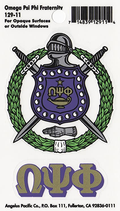 Amazoncom Omega Psi Phi Fraternity Crest Sticker Everything Else