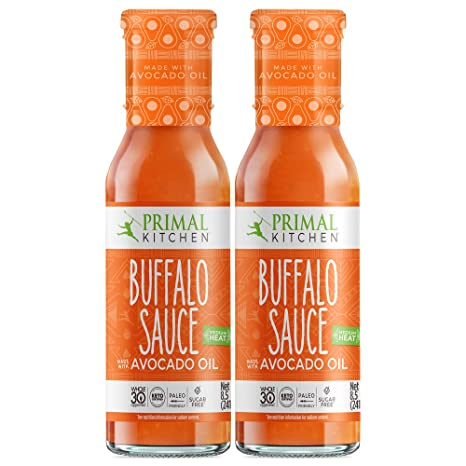 Primal Kitchen Buffalo Sauce Two Pack - No Dairy, Whole 30 Approved, Keto & Paleo Certified