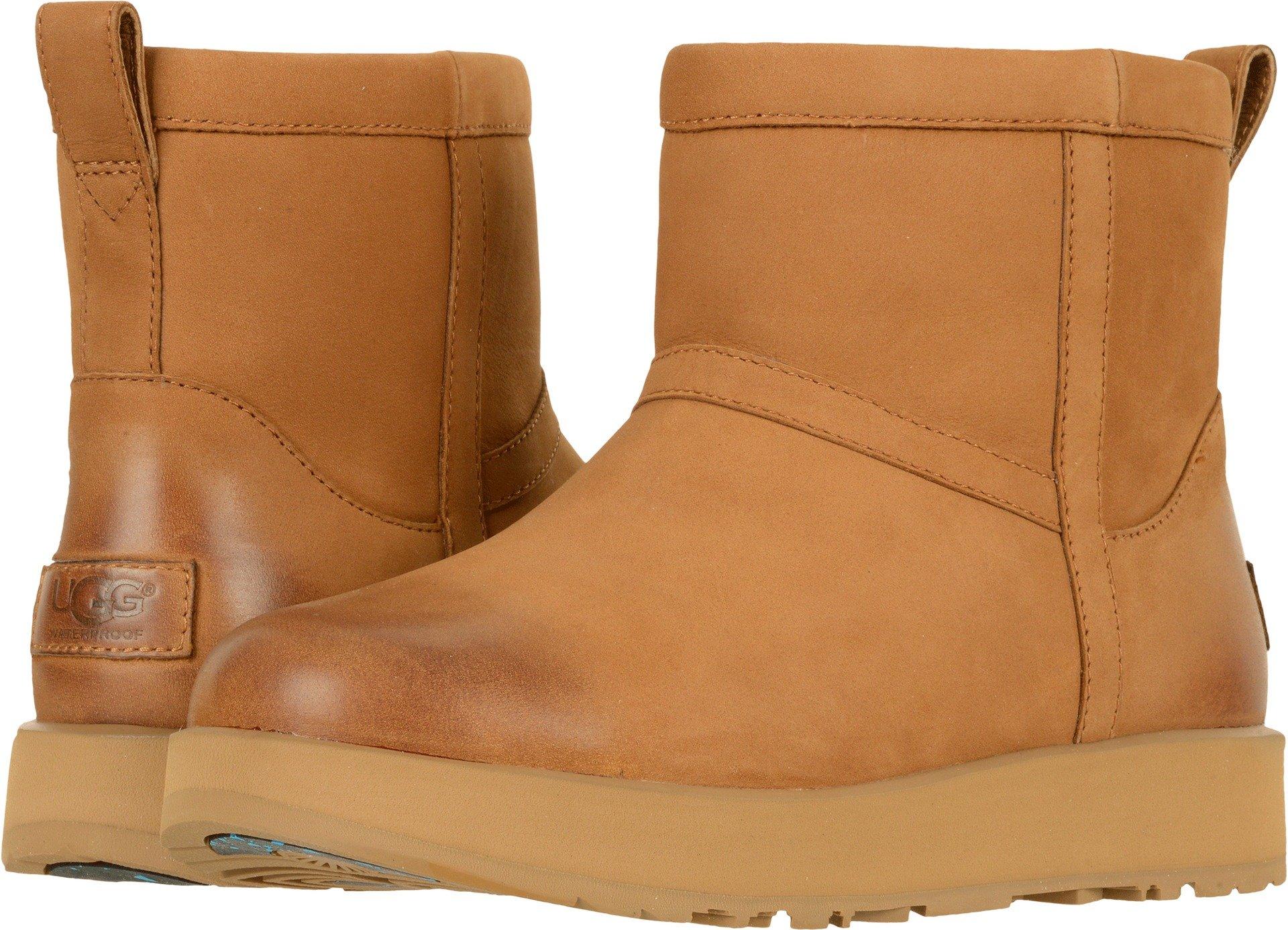 UGG Womens Classic Mini L Waterproof Rain Boot Chestnut Size 9