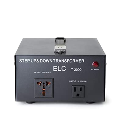 ELC T-2000 2000-Watt Voltage Converter Transformer - Step Up/Down - 110V/220V - Circuit Breaker Protection: Home Audio & Theater