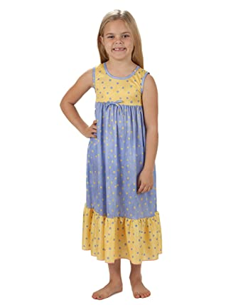 64db9ebe0b Amazon.com  Laura Dare Big Girls Buttercup Maxi Nightgown