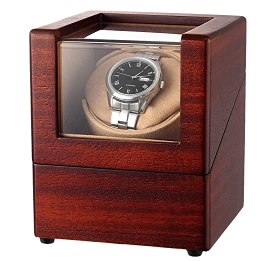 Chiyoda Automatic Single Watch Winder With Quiet Motor And Wood