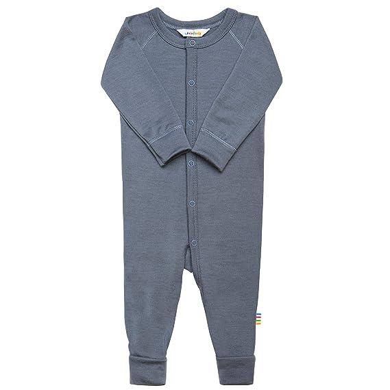 Joha Merino Wool Childrens Sleepsuit Pyjams with Fold-Over Foot Covers