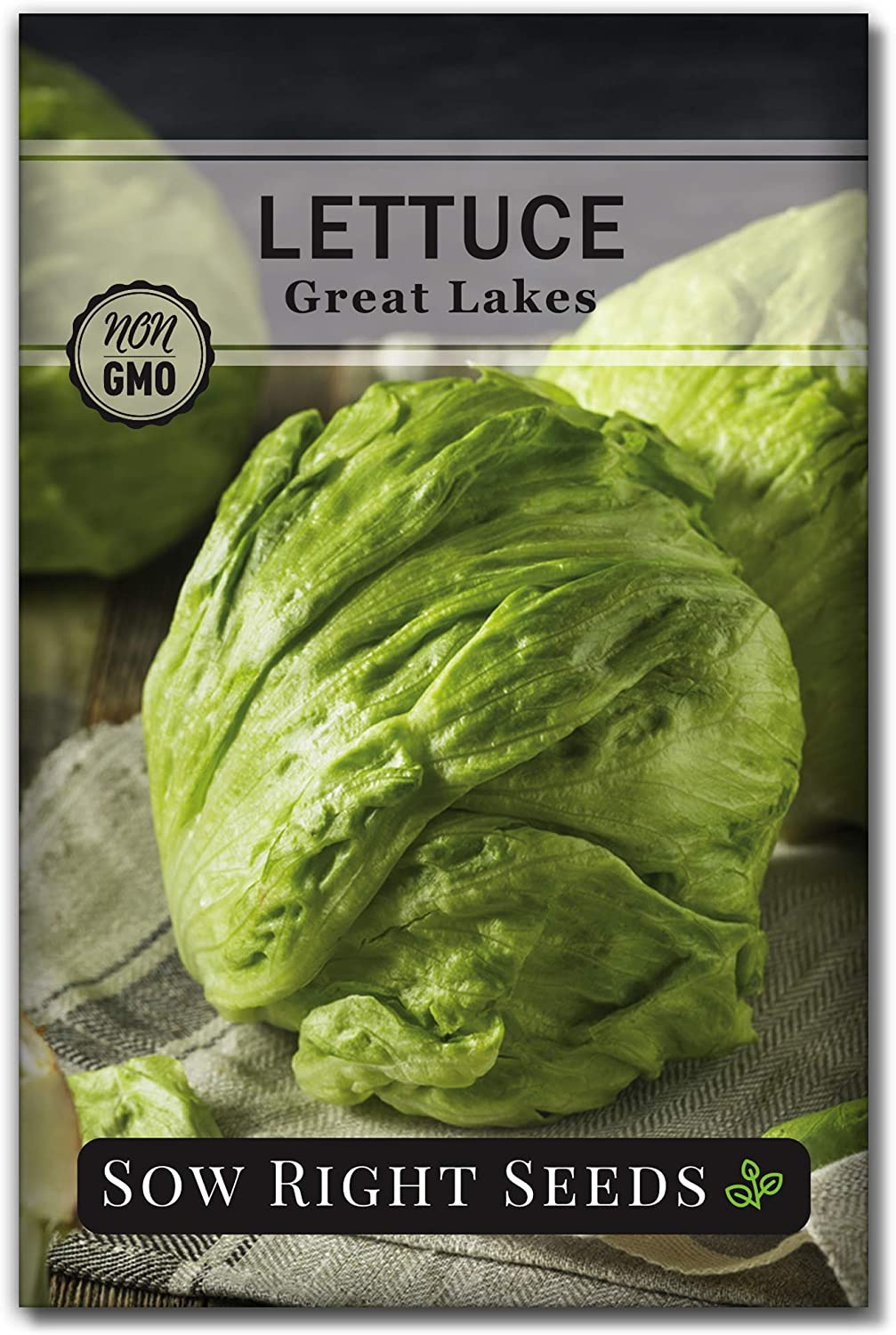 Sow Right Seeds - Great Lakes Iceburg Lettuce Seed for Planting - Non-GMO Heirloom Packet with Instructions to Plant a Home Vegetable Garden, Indoors or Outdoor; Great Gardening Gift (1)