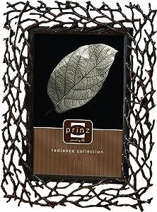 "PRINZ 1709-781 Whitman 8"" x 10"" Twigs Photo Frame, 8 by 10-Inch, Antique Copper"