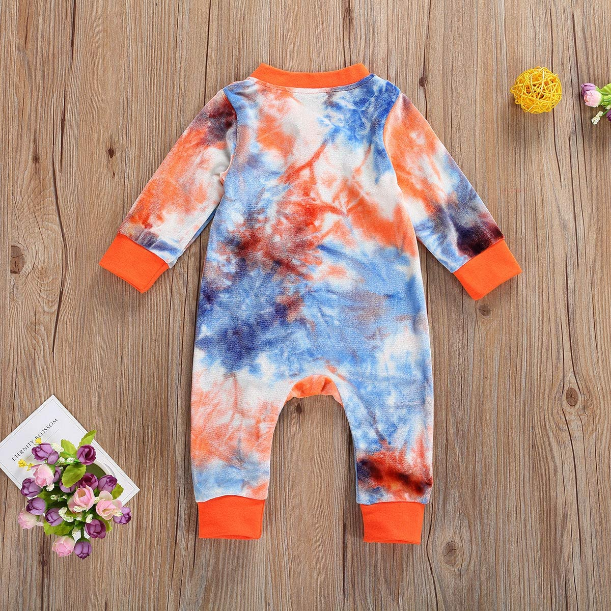 Aoiureznia Newborn Baby Girl Boy Plain Zipper Romper Long Sleeve One-Piece Ribbed Jumpsuit Pajama Fall Winter Clothes Outfits