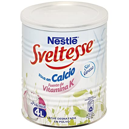 Sveltesse Leche desnatada en polvo - Paquete de 12 x 400 gr - Total ...