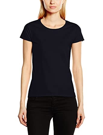 8dd09faa Fruit of the Loom Women's Fit Value Short Sleeve T Shirt Deep Navy XS