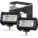 LED light Pods, Offroad Town 2 pcs 144w LED Light Bar OSRAM Flood Beam Fog Lights Waterproof Driving Light for Off road, Heavy Duty, UTV, Truck, ATV, SUV, Jeep, 3 Years Warranty