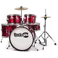 RockJam RJ105-MR Complete 5-Piece Junior Drum Set