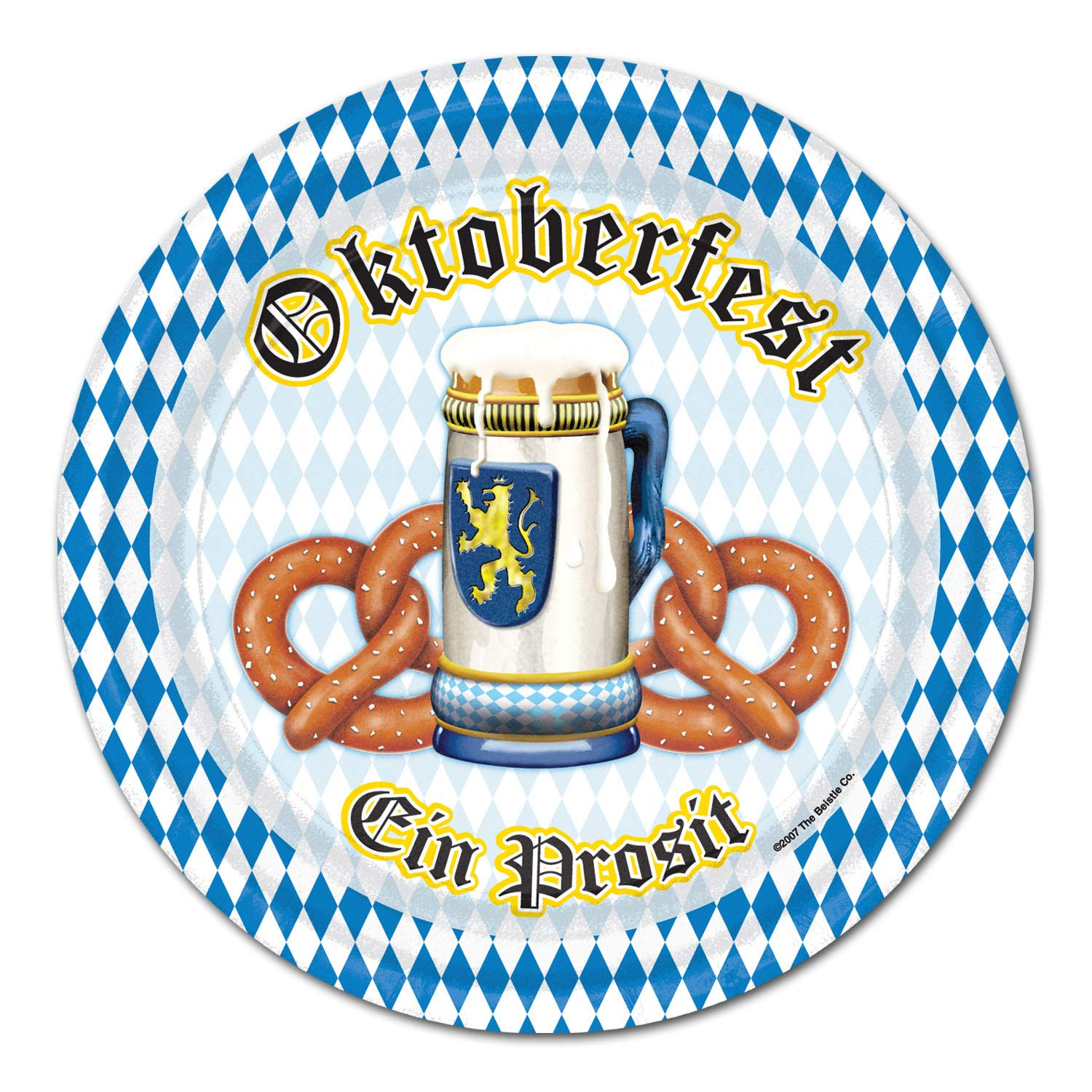 Beistle 2018 Oktoberfest EIN Prosit Dinner Plates | 9 Inches | (Party Pack: 24 Count)