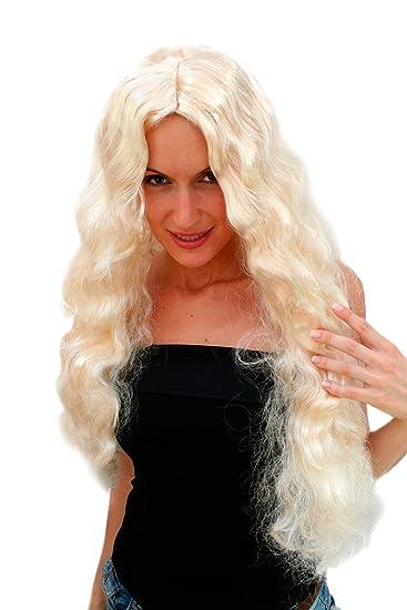 Wig me up Perücke Hellblond Blond Hollywood Diva Engel lang: Amazon ...