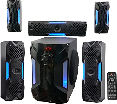 Rockville HTS56 1000w 5.1 Channel Home Theater System Bluetooth USB 8 Subwoofer