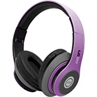 iJoy Over-Ear Wireless Bluetooth Headphones (Violet)