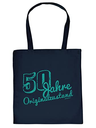 Birthday Shopping Bag 50th 50 Years Old Gift