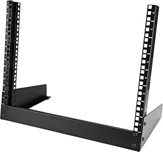 "StarTech.com 8U Desktop Rack 19"" Open Frame Rail Components, Black (RK8OD)"
