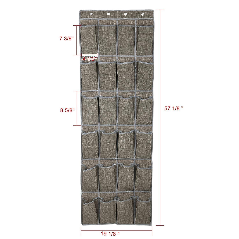Amazoncom Songmics 24 Pocket Hanging Shoe Storage Over The Door Shoe Organizer Light