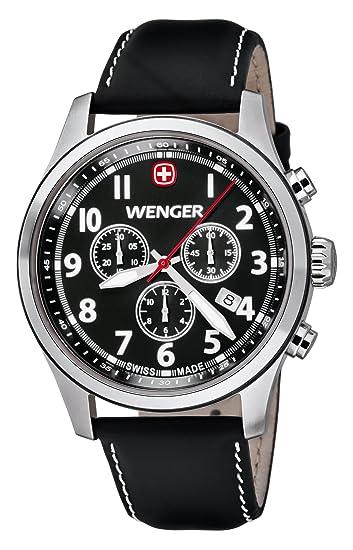 Wenger Terragraph Chrono 01.5431.101 - Reloj cronógrafo de cuarzo para hombre, correa de