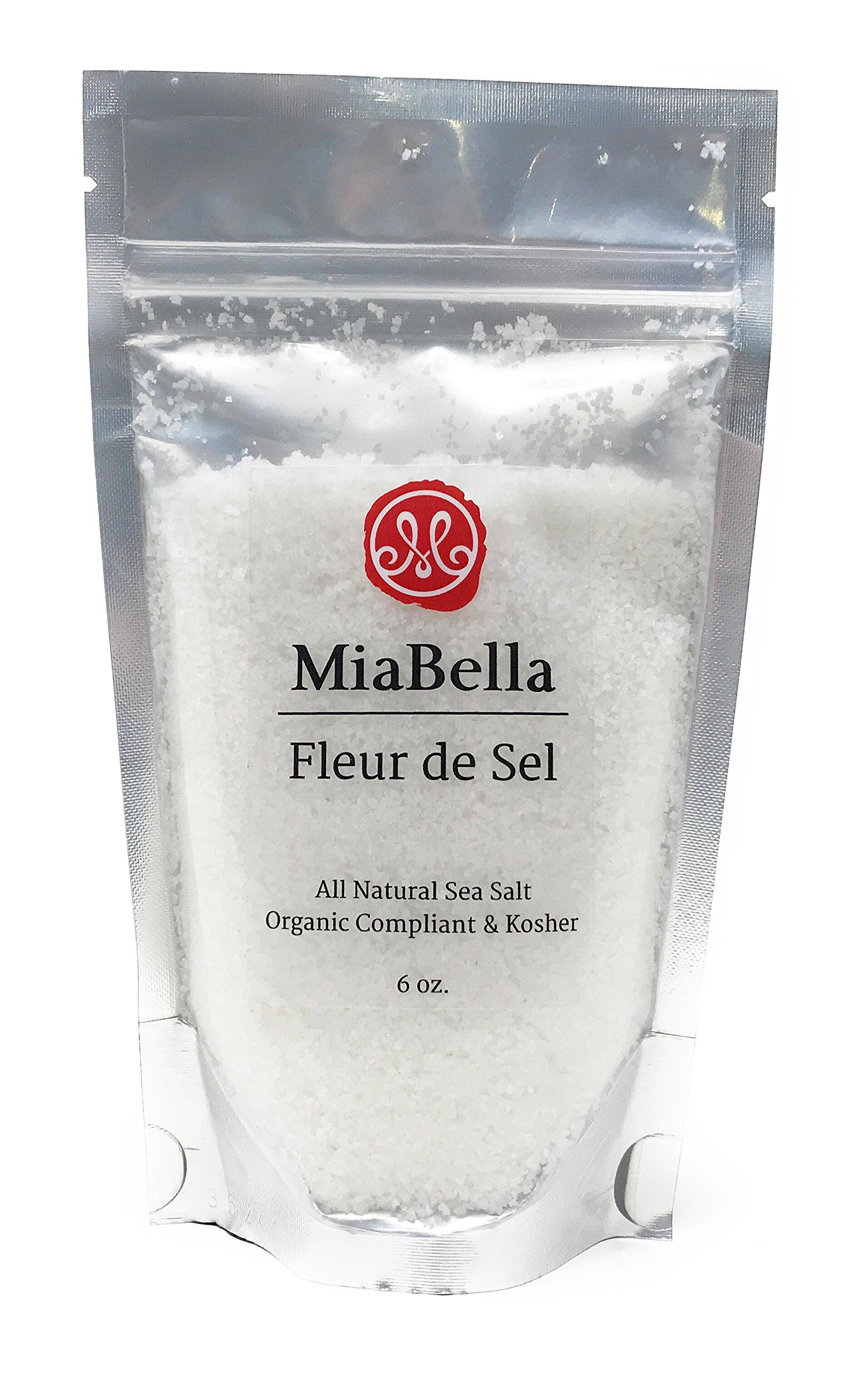 MiaBella Fleur de Sel Sea Salt - 6 oz