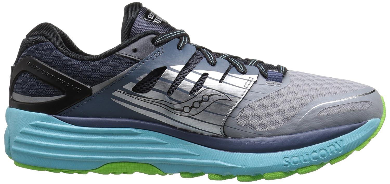 Saucony Women's Triumph ISO 2 Running Shoe B00YBDDCOI 9 B(M) US|Grey/Blue/Slime