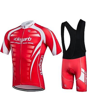 b9361d3fff8f Feilaxleer Ropa Ciclismo Verano para Hombre y Mujer - Un Conjunto de Ciclismo  Jersey Maillot y