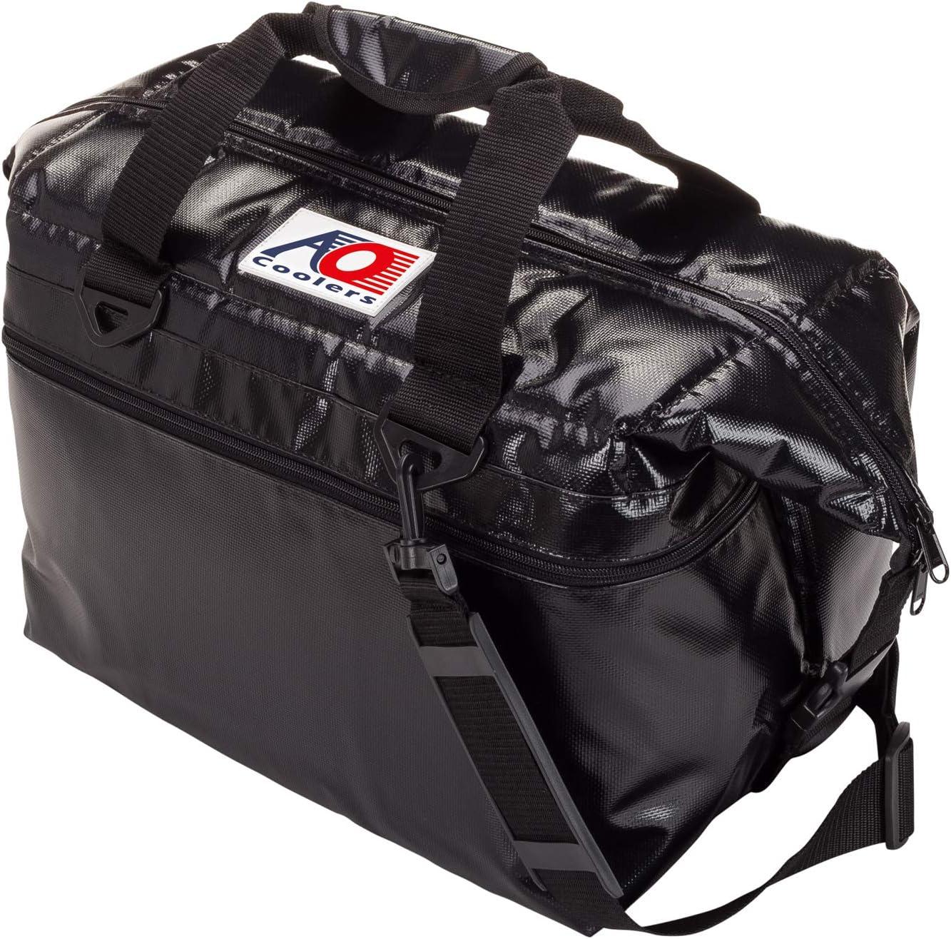 AO Coolers(エーオークーラー) ビニール ソフトクーラー バッグ 24パック 各色 耐水 軽量 保冷 クーラーボックス (日本正規品) ブラック