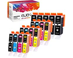 ejet PGI-225 CLI-226 PGI225 CLI226 17-Pack Compatible Ink Cartridge Replacement for Canon to use with PIXMA MG6120 MG6220 MG5
