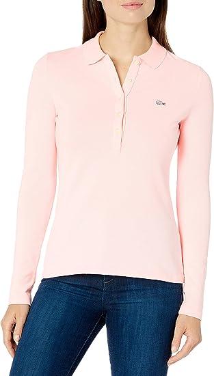 LACOSTE Damen Polo Poloshirt Slim Fit