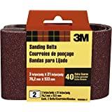 3M 9285NA-2 Heavy Duty Power Sanding Belts, 3-Inch by 21-Inch, Eby. Coarse, 40 grit, 2-pack