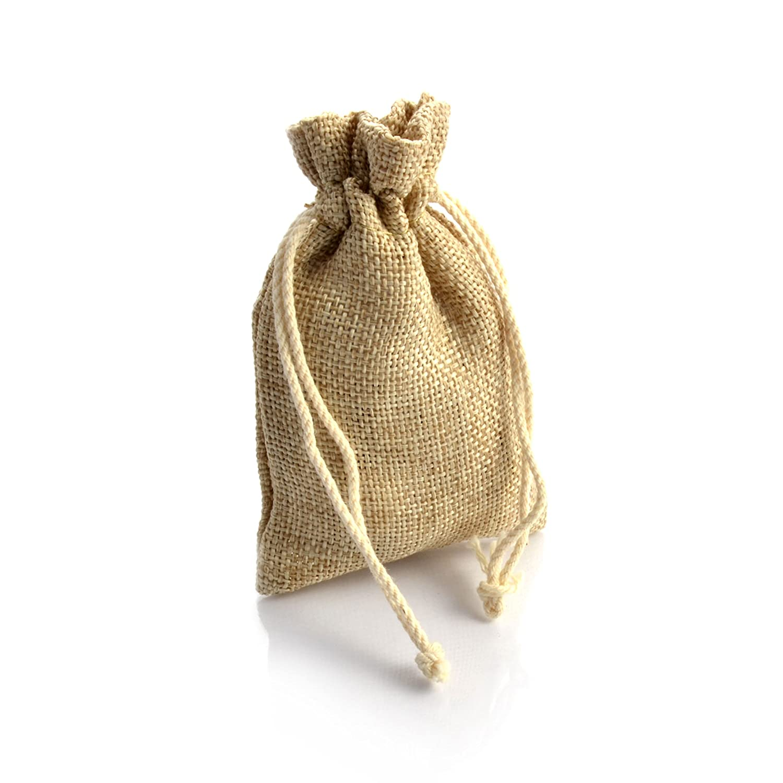 saco regalo sacos color sacos bolsa Conjunto de 20 yute de estilo r/ústico bolsa bolsa color
