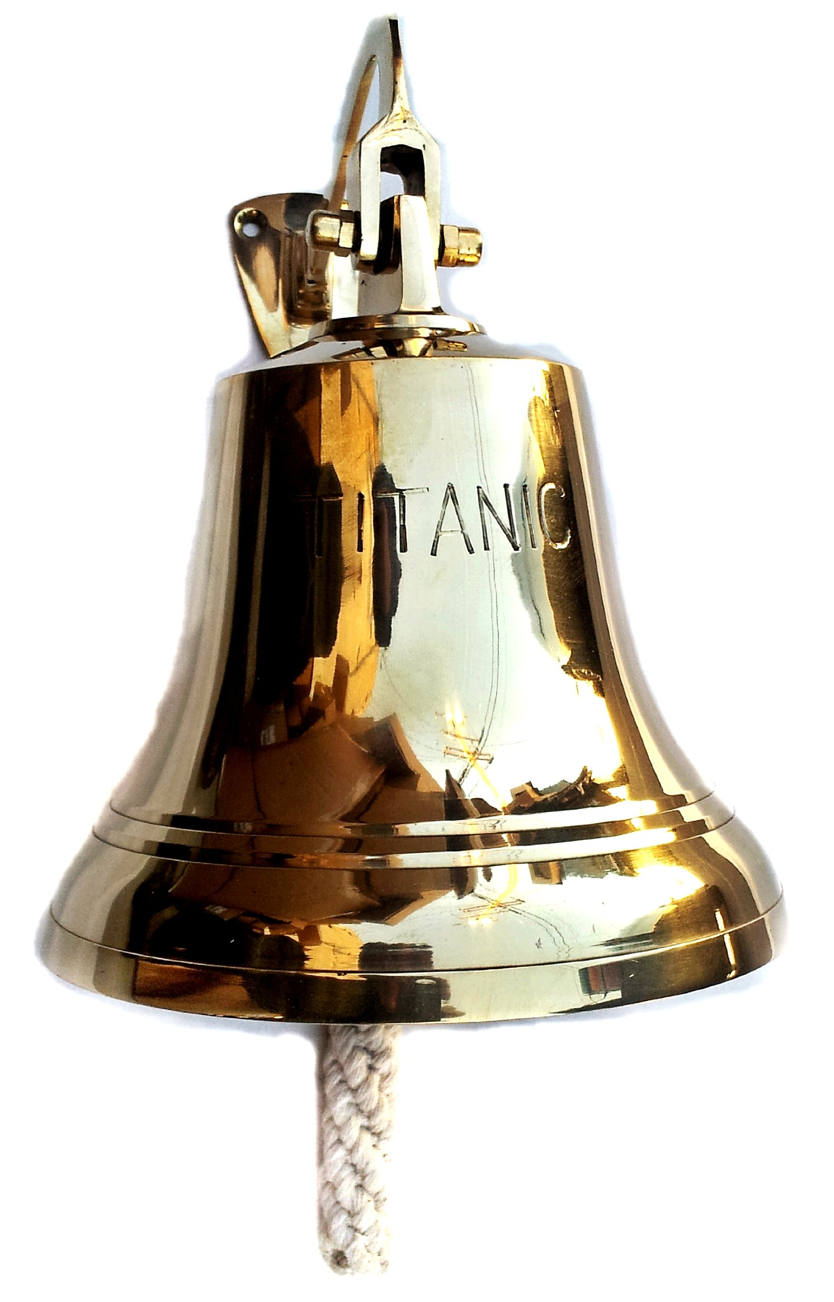 Brass Bell Titanic 6'' Nautical Ship Boat Decor