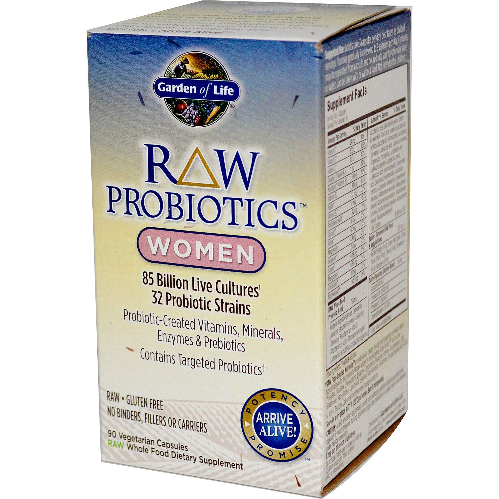 Garden of Life RAW Probiotics Women, 90 Capsules (90 x 2)