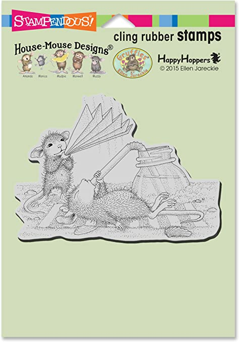 Stampendous HMCP111 House Mouse Cling Stamp-Stringing Berries