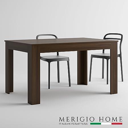MerigioHome Mesa Extensible Moderno, Nuez, Madera, Cocina, Made in ...