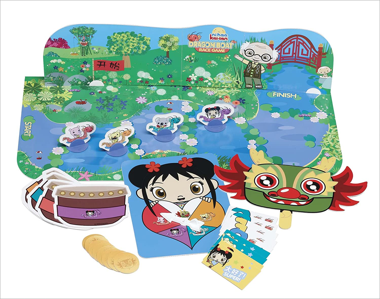 amazon com ni hao kai lan dragon boat race game toys u0026 games