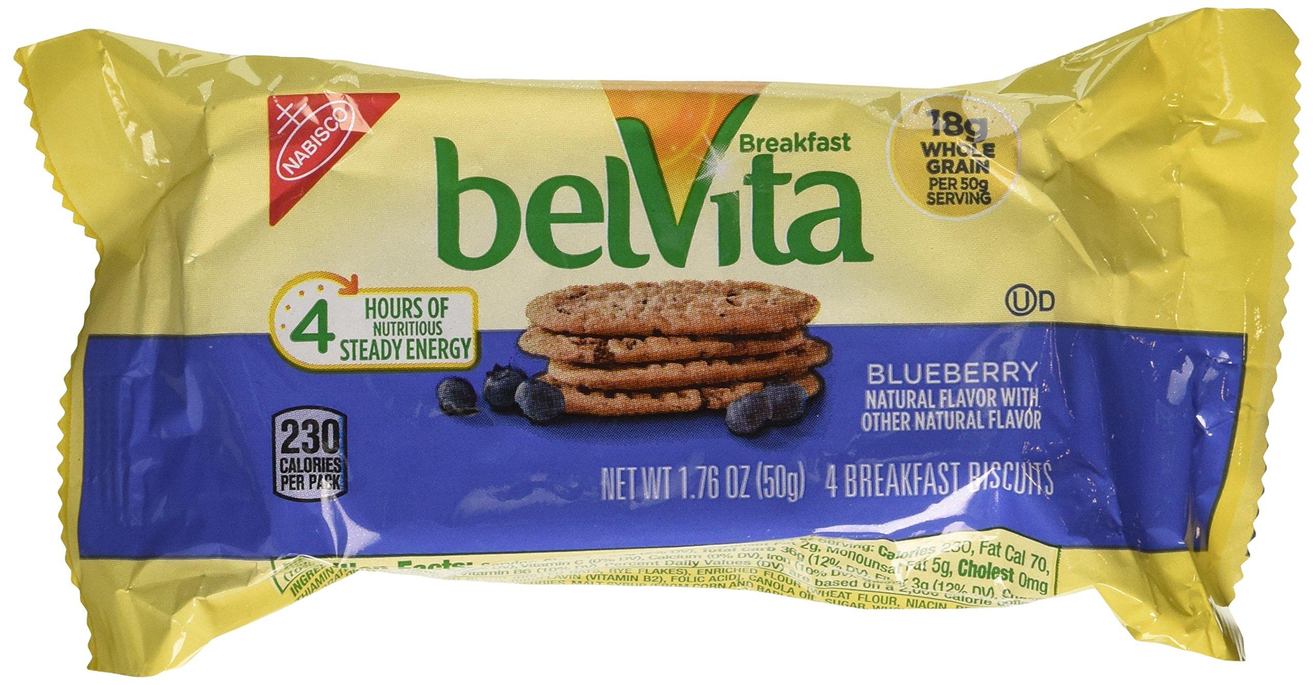 Belvita Breakfast Biscuit, Blueberry 25-1.76 oz. 4 count packs