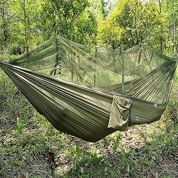 Jungle Hamac Avec Moustiquaire Portable Cordon Extérieur Mosquito