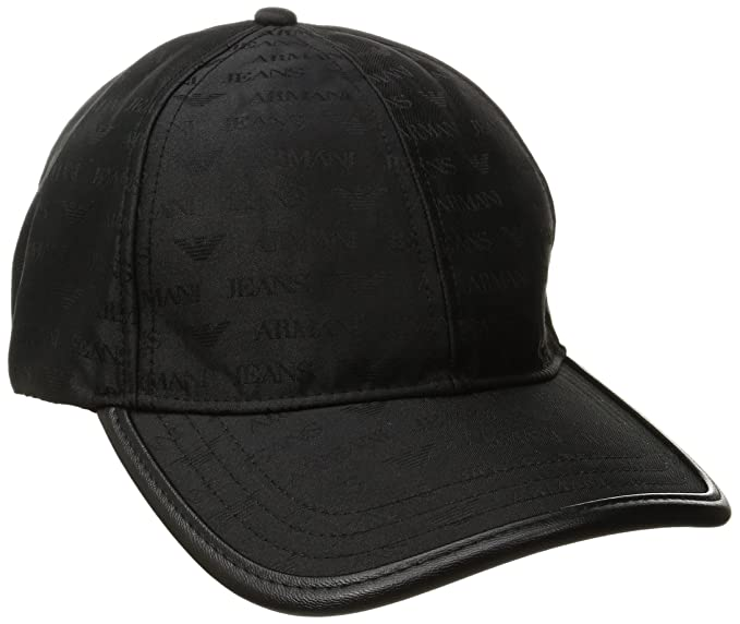 6d27de4a Armani Exchange Men's All Over Logo Hat, Black, One Size: Armani Jeans:  Amazon.in: Clothing & Accessories